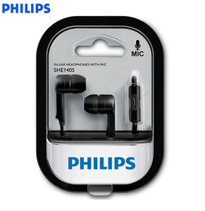 Auricular Philips In ear (SHE1405BK10) Negro